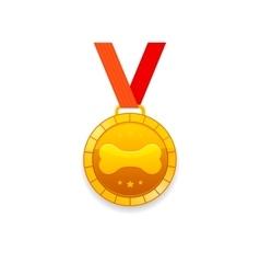 Medal for dog vector image