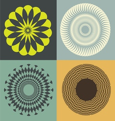 optical collection print vector image vector image