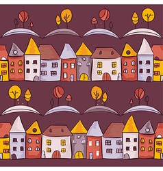 Village seamless pattern vector image vector image