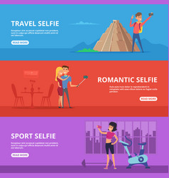 banners set with of couples and vector image