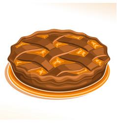 Chocolate pie vector