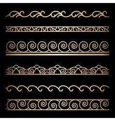 Gold borders vector image