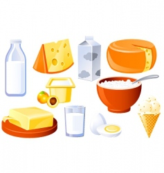 milk and farm products vector image vector image