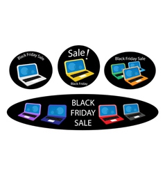 Mobile Computer on Black Friday Sale Background vector image
