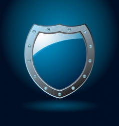 shield blank vector image vector image