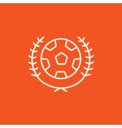 Soccer badge line icon vector image vector image