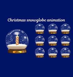 christmas snowglobe animation snowball vector image