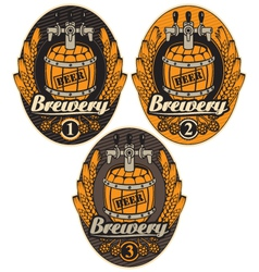 Label with a beer vector