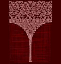 lace zipper vector image