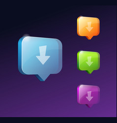 download web buttons for website or app vector image
