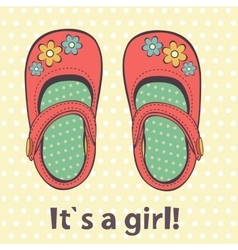 It s a girl cute card of beautiful vector image vector image