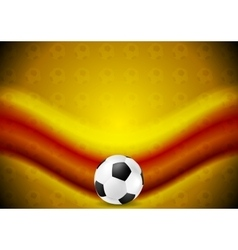 Orange soccer football background with red wave vector image vector image