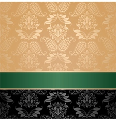 seamless pattern floral decorative background gree vector image vector image