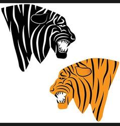 tiger tattoo Tiger head animal vector image vector image