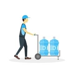 Water Delivery Boy or Man vector image vector image