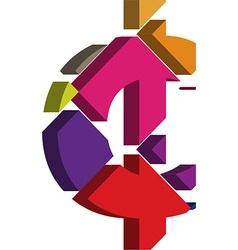 3d CENT symbol vector