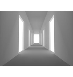 Abstract emply hall with opened doors vector