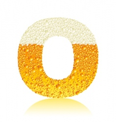 alphabet beer o vector image