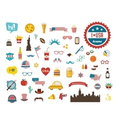American design elements happy independence day vector image