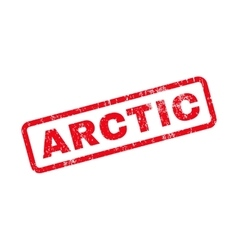 Arctic Text Rubber Stamp vector image
