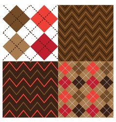 Argyle Brown Set vector image