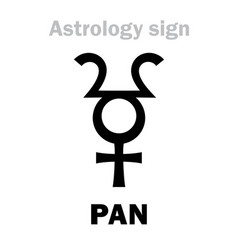 Astrology planetoid pan vector