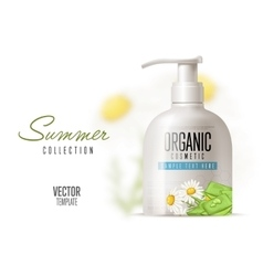 Body care with chamomile vector