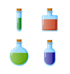 bottles of potion for web game vector image