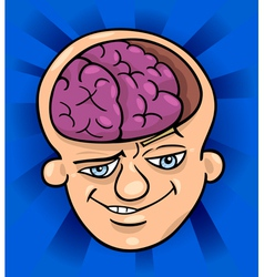 brainy man cartoon vector image