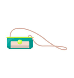 Bright small purse on long strap with round clasp vector