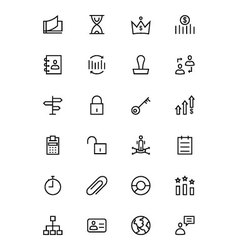 Business and Finance Line Icons 5 vector