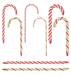 Candy Canes Set vector image