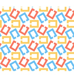 Chain links abstract geometric seamless pattern vector image