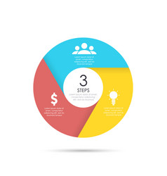 circle template for infographics vector image