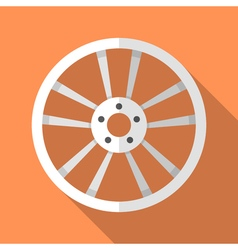 Colorful car disk wheel rim icon in modern flat vector