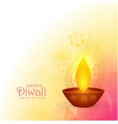 colorful diwali festival background design with vector image