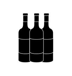 Contour wine bottles taste beverage vector