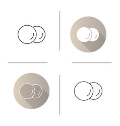 Cotton pads icon vector