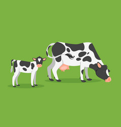 Cow with calf vector