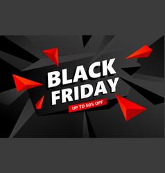 creative black friday sale inscription design vector image
