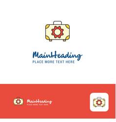 creative toolbox logo design flat color logo vector image