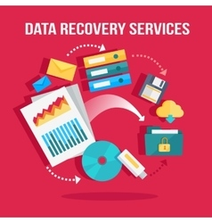 Data recovery services banner vector