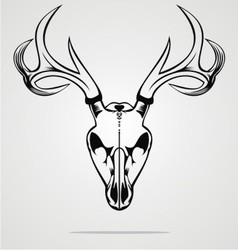 Deer skull tribal vector
