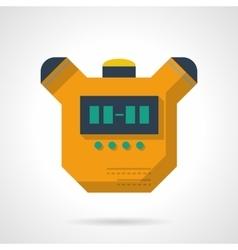 Digital stopwatch flat color design icon vector