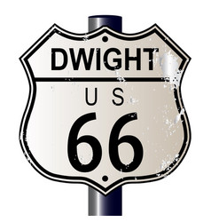 Dwight route 66 sign vector