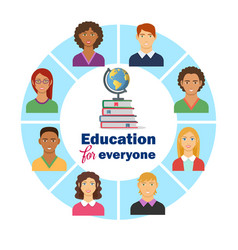 Education for everyone flat poster vector