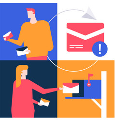 email marketing - flat design style colorful vector image
