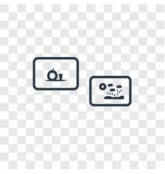 exhibition concept linear icon isolated on vector image