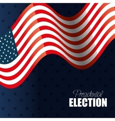 flag waving usa presidential election graphic vector image