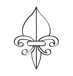 fleur de lys icon vector image